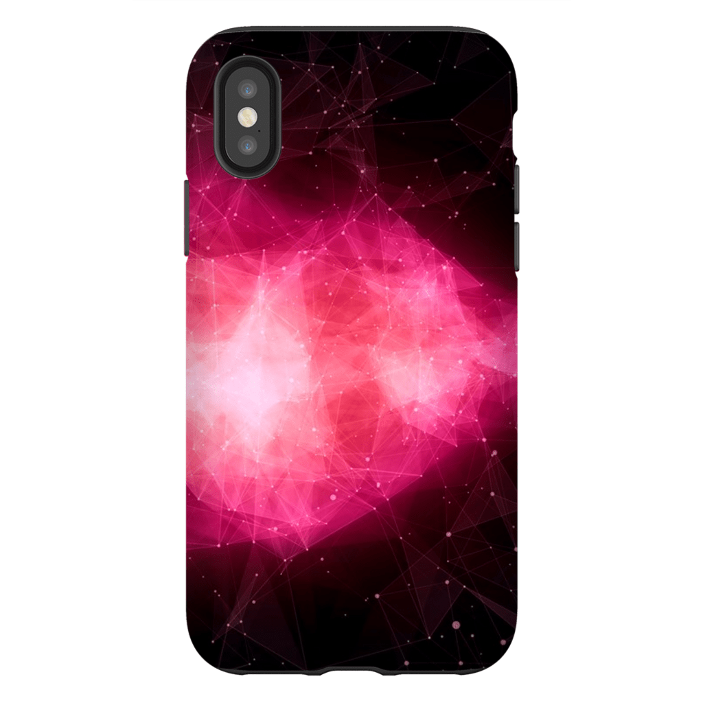 Pink Blush Space iPhone X-XS Max Series Tough Case - Purdycase