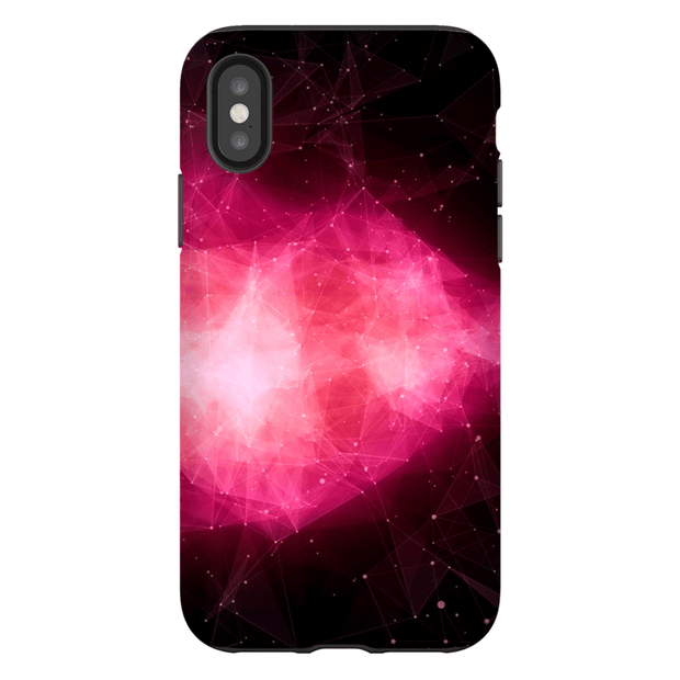 Pink Blush Space iPhone X-XS Max Series Tough Case
