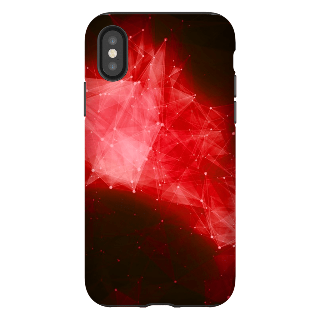 Red Blast Space iPhone X-XS Max Tough Case - Purdycase