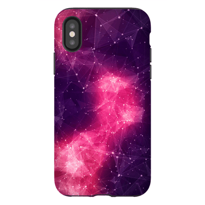Purple Castellation Nebula iPhone X-XS Max Tough Case