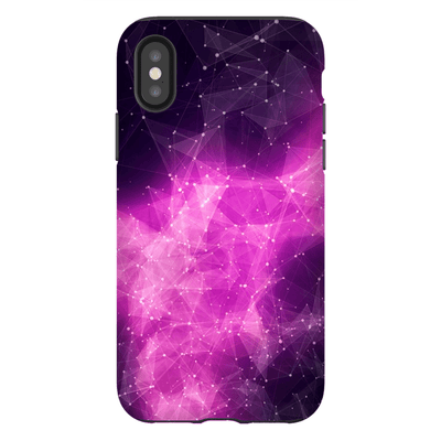 Nebula Purple Mass Space iPhone X-XS Max Tough Case