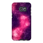 Abstract Purple Space Galaxy S6 Edge and S6 Edge Plus