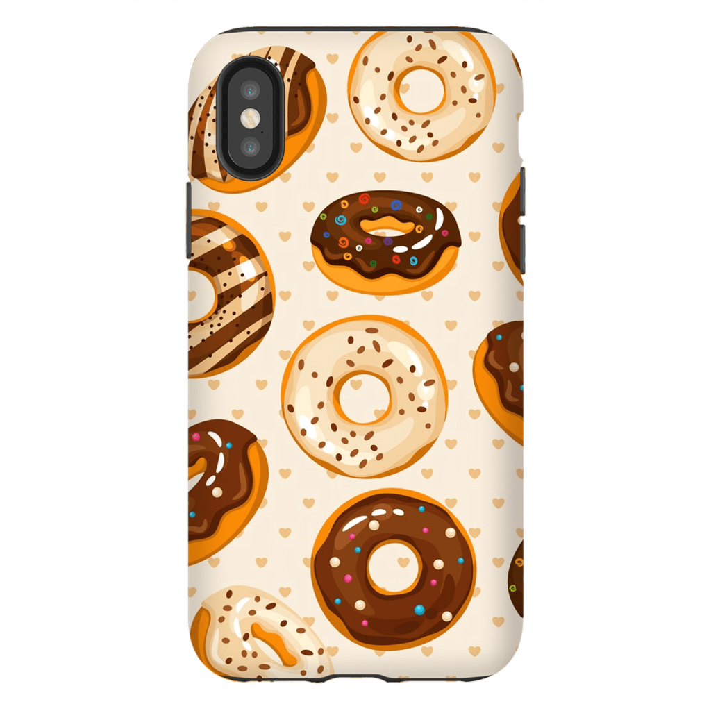 Chocolate Glazed Donut iPhone X-XS Max Tough Case - Purdycase