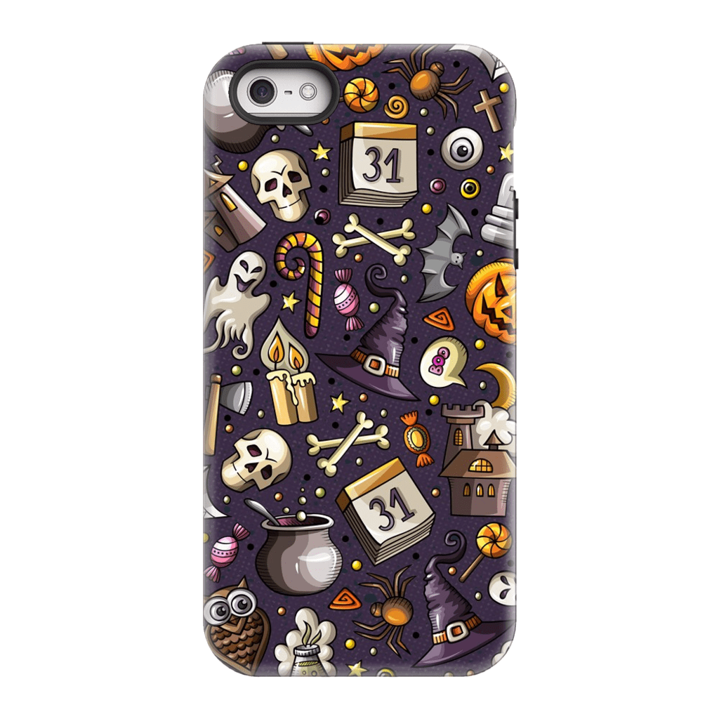 Skeletons and Skulls Halloween iPhone 5/5S/SE Tough Case - Purdycase