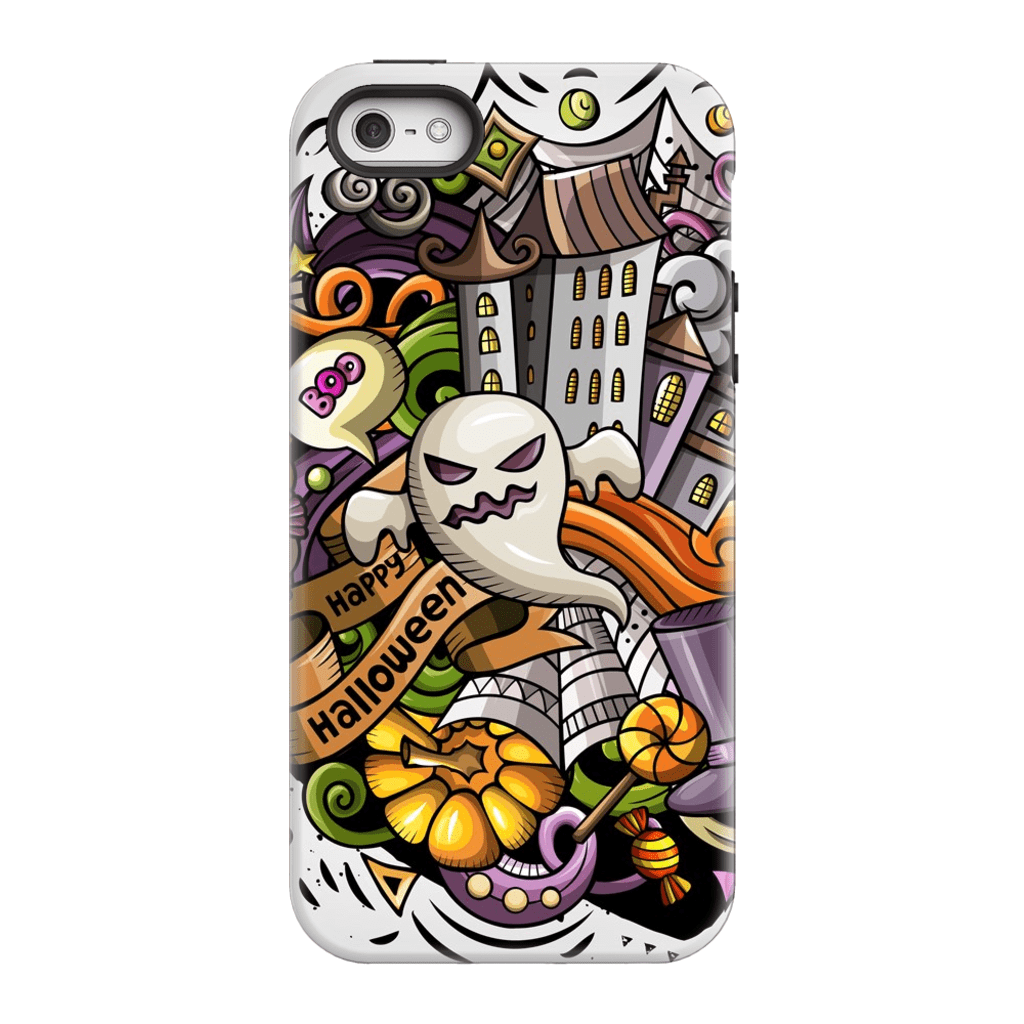 Scary Ghost Halloween iPhone 5/5S/SE Tough Case - Purdycase