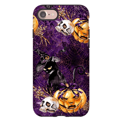 Sneaky Black Cat Halloween iPhone 6-XS Max Tough Case