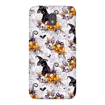 Black Cat Medley Halloween Galaxy A3 - S10 Series Tough Case