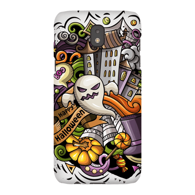 Scary Ghost Halloween Galaxy A3 - S10 Series Tough Case