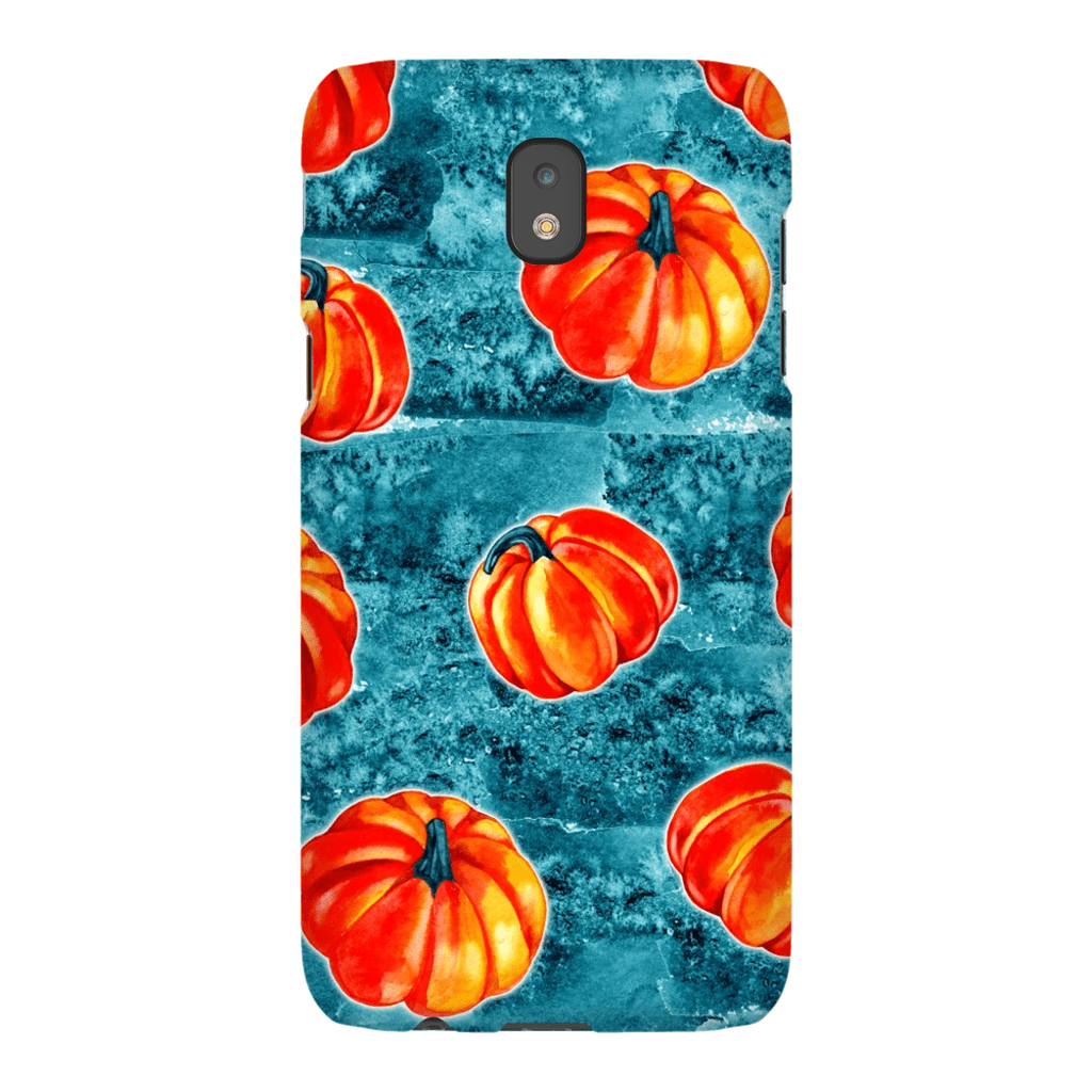 Blue Orange Pumpkin Galaxy A3 - S10 Series Tough Case - Purdycase