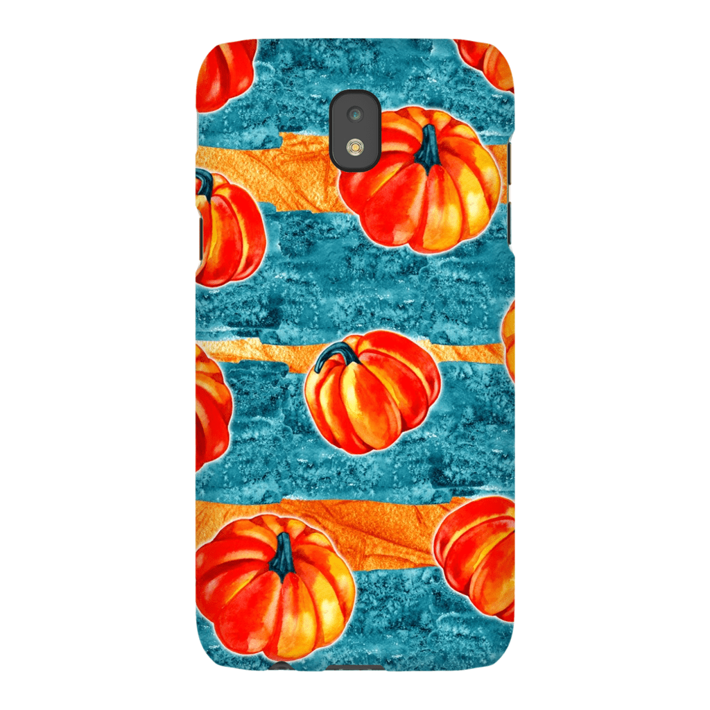 Blue Orange Stripe Pumpkin Galaxy A3 - S10 Series Tough Case - Purdycase