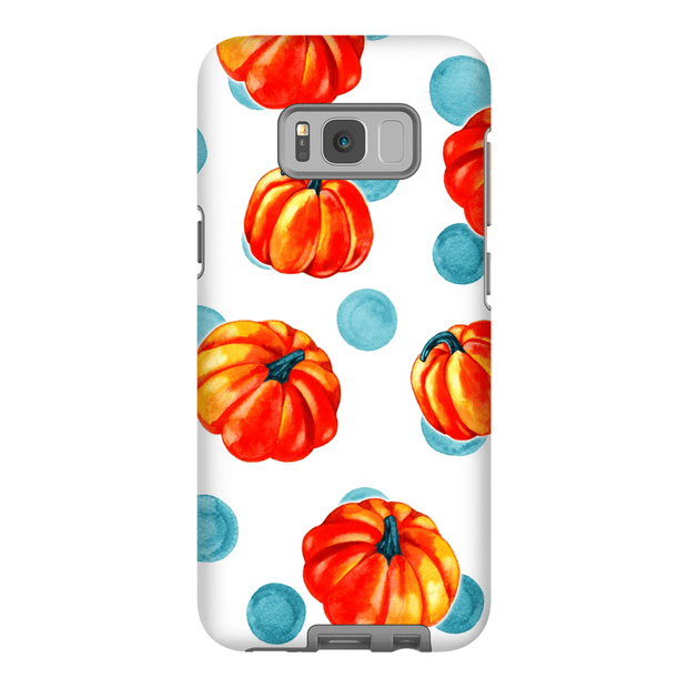 Polka Dot Orange Pumpkin Galaxy A3 - S10 Series Tough Case