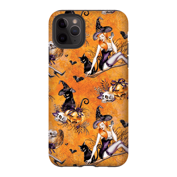 Orange Pinup Halloween iPhone 11 Pro Series