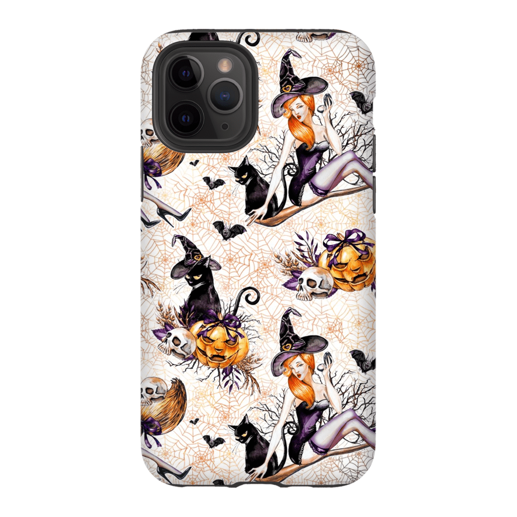 White Pinup Halloween iPhone 11 Series - Purdycase