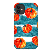 Blue White Pumpkin Autumn iPhone 11 Series