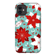 Red Floral Christmas iPhone 11 Series