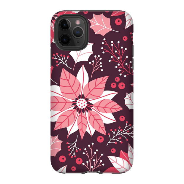 Pink Floral Christmas iPhone 11 Series