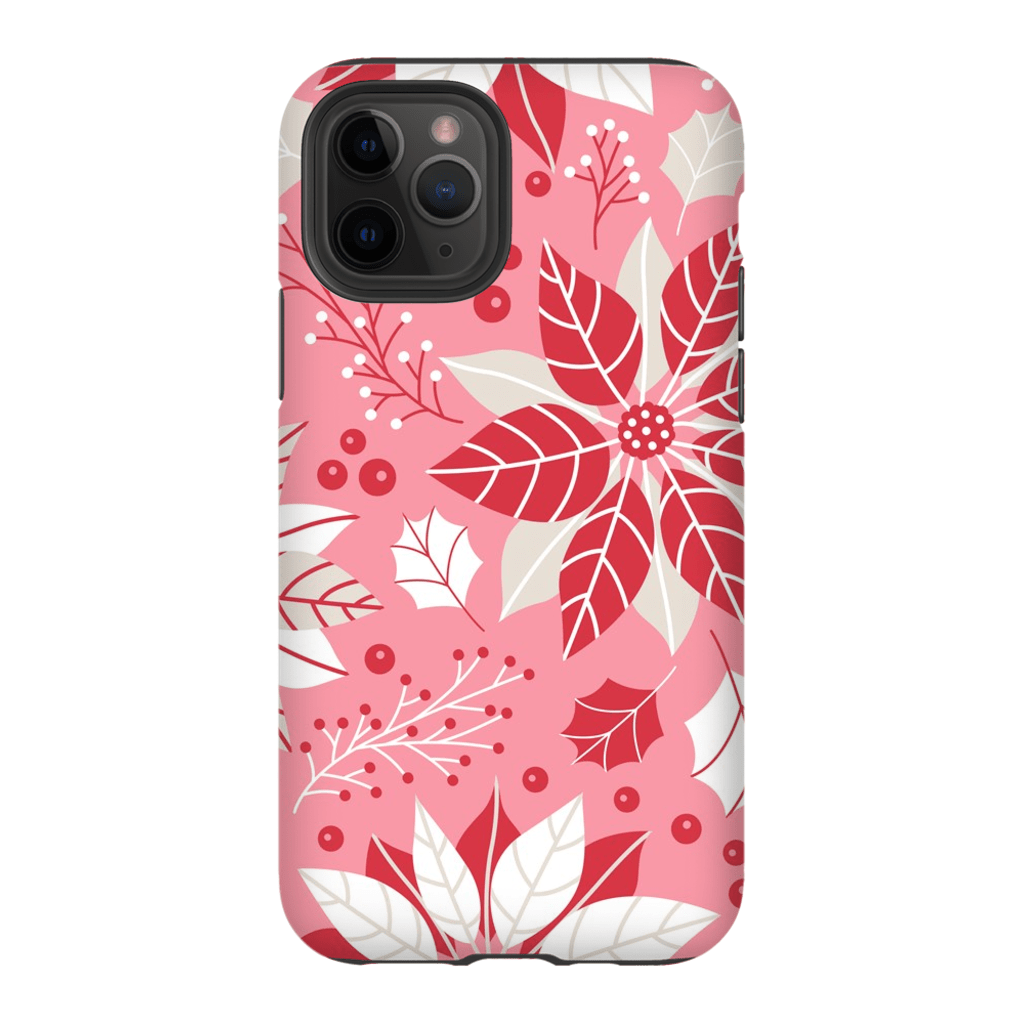 Christmas Pink Floral iPhone 11 Series - Purdycase