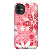 Christmas Pink Floral iPhone 11 Series