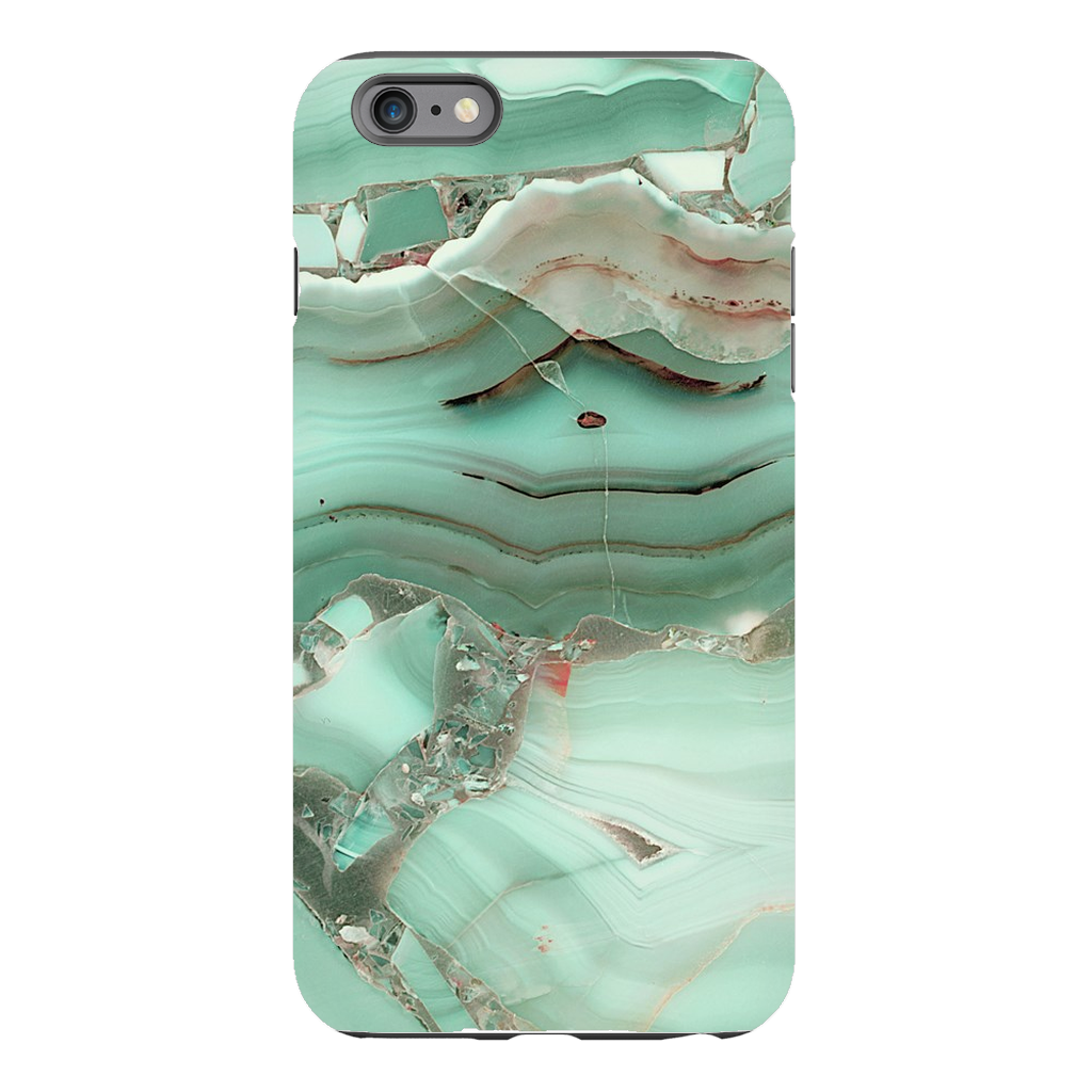 Green Cracked Marble iPhone 6 Series - Purdycase