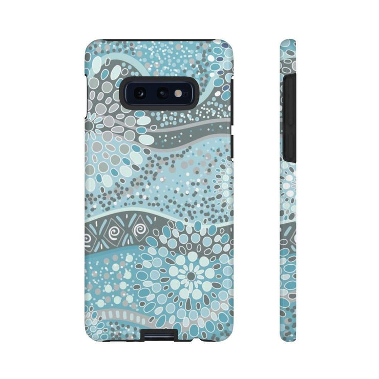 Teal Circle Pattern Galaxy 10 Series Tough Case - Purdycase