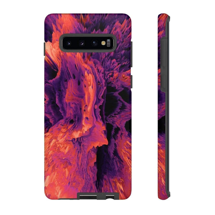 3D Red Texture Galaxy 10 Series Tough Case - Purdycase