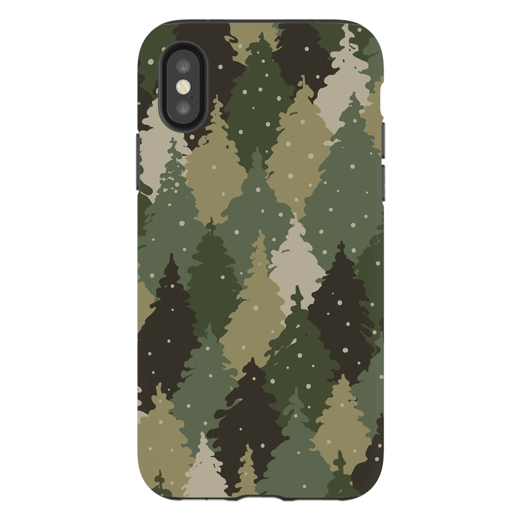 Forest Green Camo iPhone X-XS MaX Tough Case - Purdycase