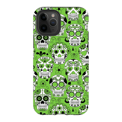 Lime Skulls iPhone 11 Series Tough case