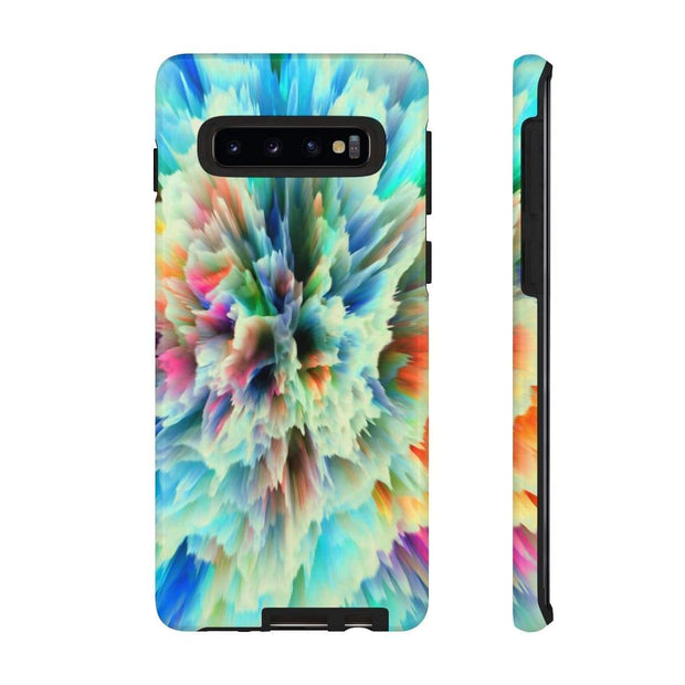3D Texture Yellow Glow Galaxy 10 Series Tough Case