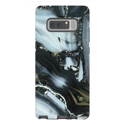 Blue Cracked Marble Galaxy Note 8-10 Series