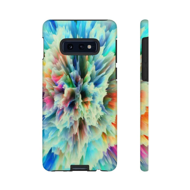 3D Texture Yellow Glow Galaxy 10 Series Tough Case - Purdycase