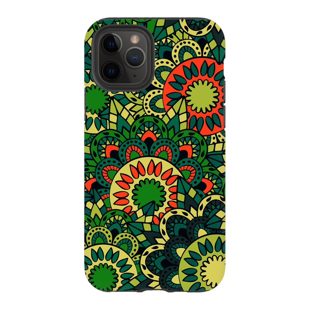Bright Green Mandala iPhone 11 Series - Purdycase