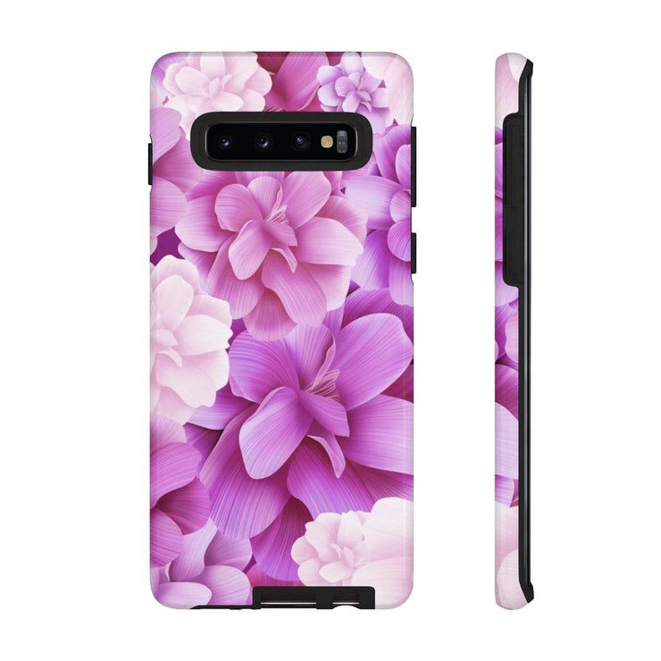 Purple Flowers Galaxy 10 Series Tough Case - Purdycase