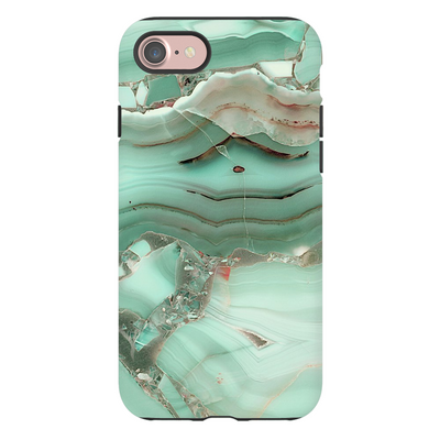 Green Cracked Marble iPhone 7 Series