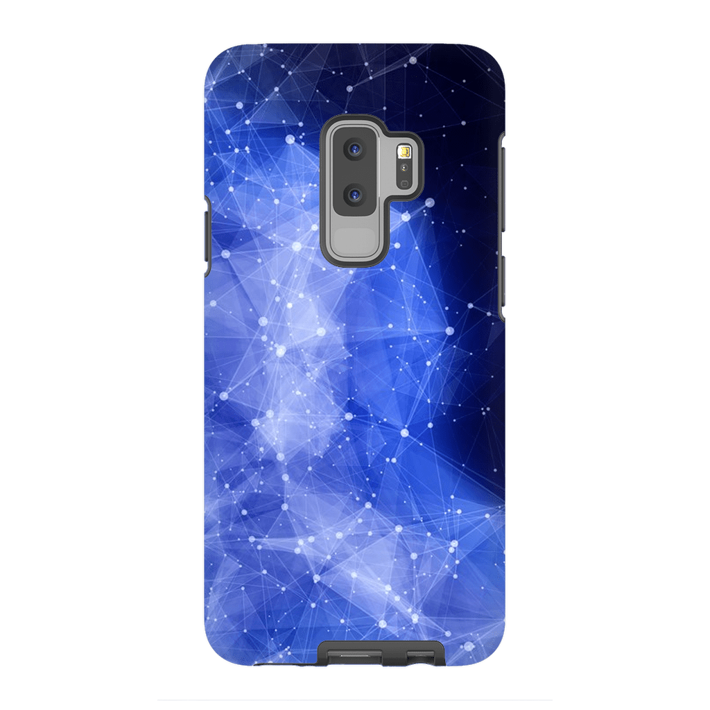 Blue Purple Nebula Galaxy S9 and S9 Plus Tough Case - Purdycase