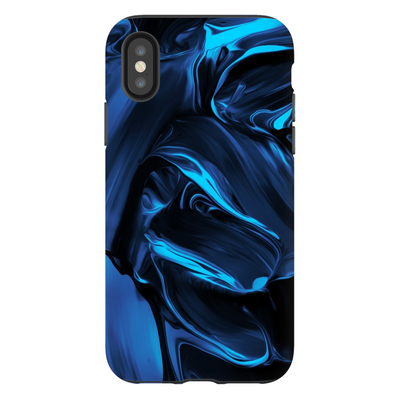 Satin Blue Abstract iPhone X-XS Max Series
