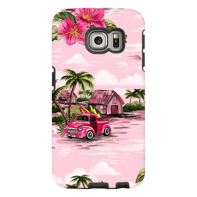 Pink Hawaiian Galaxy S6 Edge and S6 Edge Plus Tough Case - Purdycase