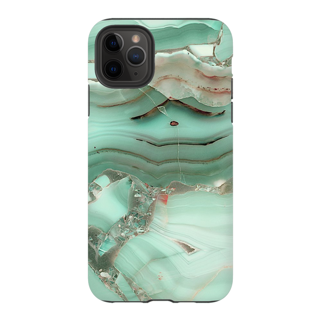 Green Cracked Marble iPhone 11 Series - Purdycase
