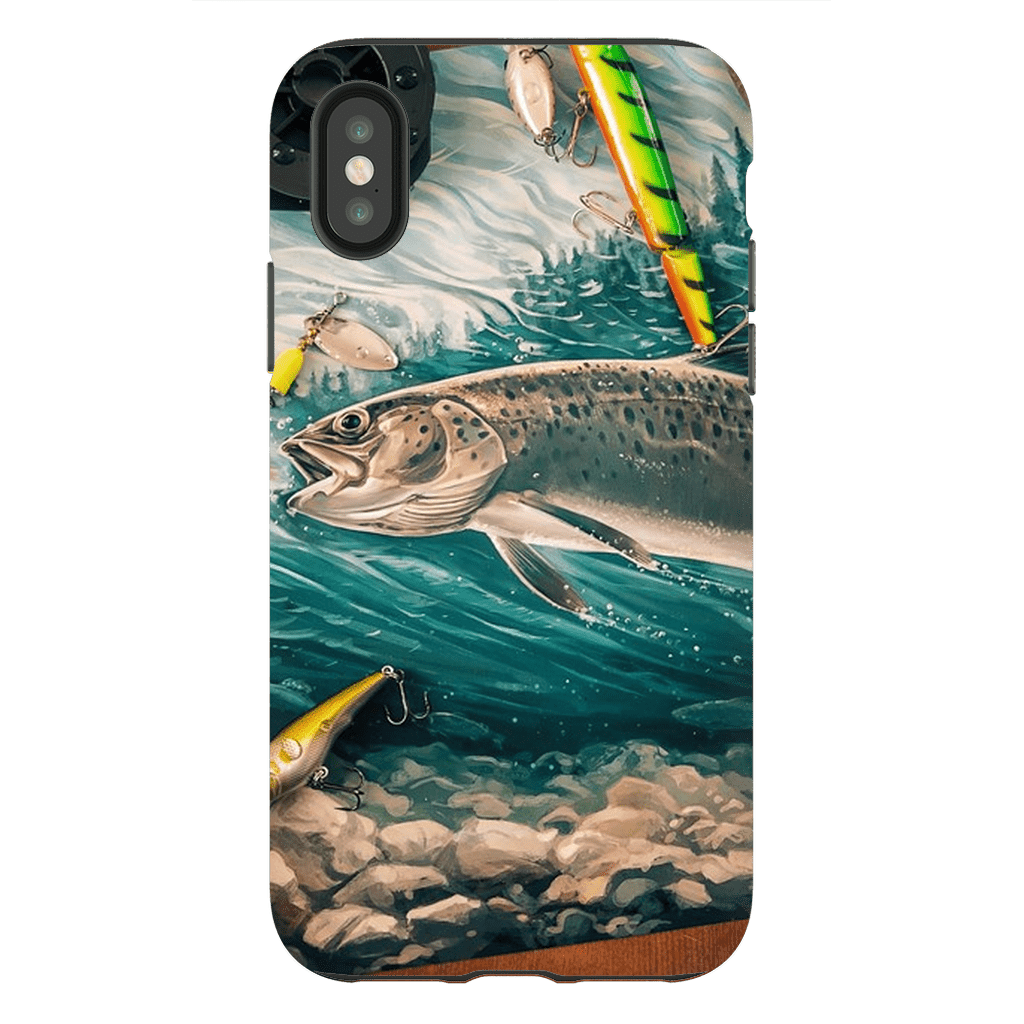 Trout Lure iPhone X-XS MaX Tough Case - Purdycase
