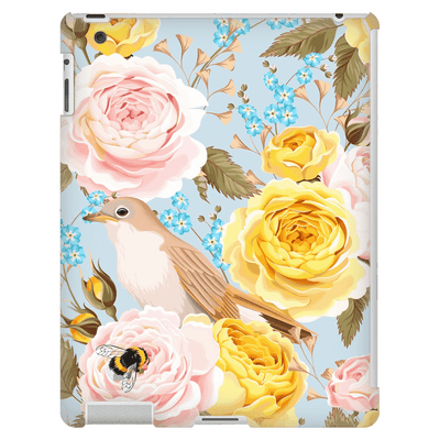 Yellow Pink Roses iPad 3/4 Mini, Tablet Case