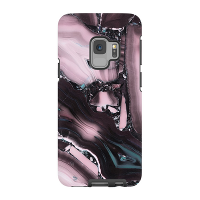 Pink Crackle Marble Galaxy S6-S9+ Series