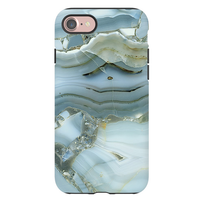 Blue-Green Cracked Marble iPhone 7 Series