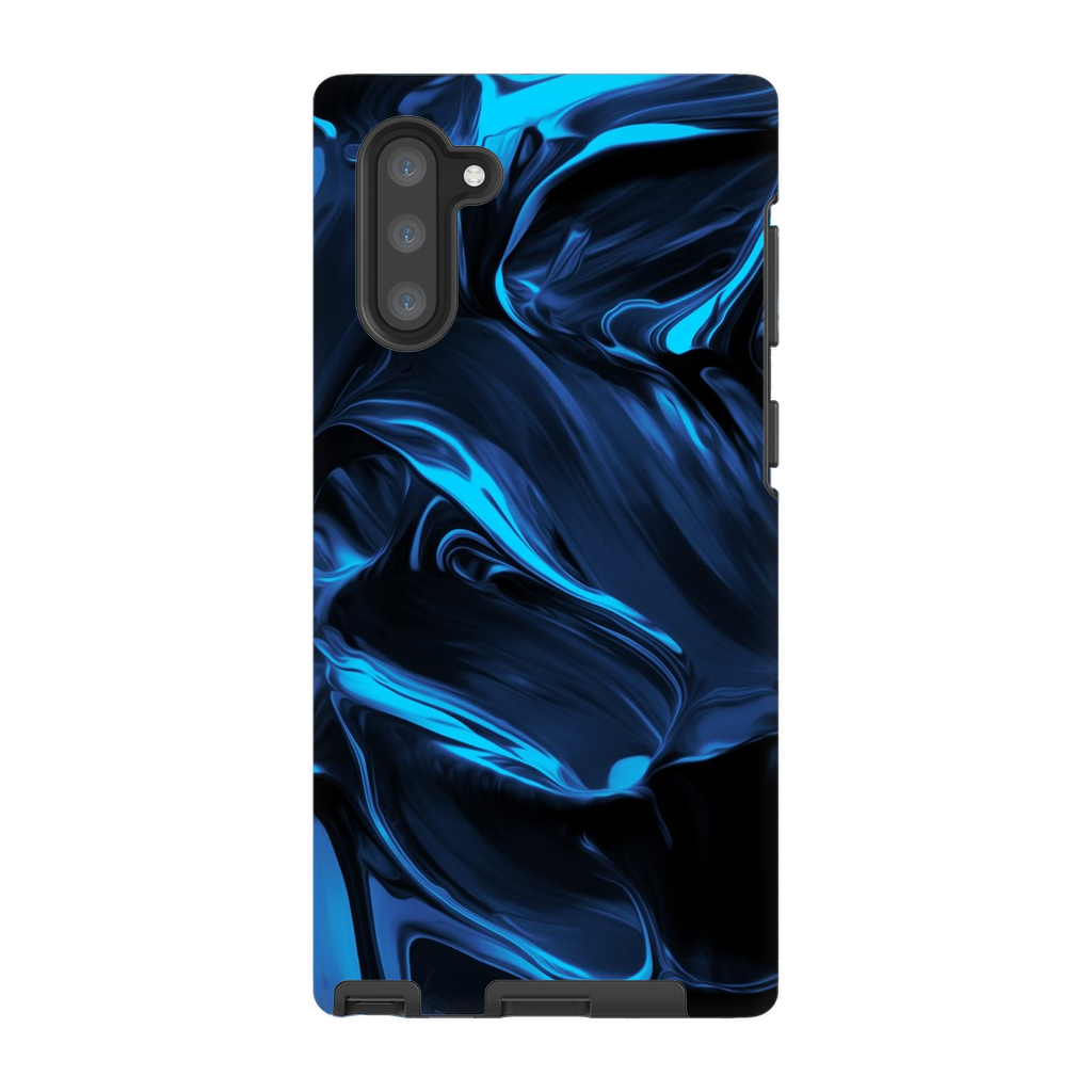 Satin Blue Abstract Galaxy Note 8-10+ Series - Purdycase
