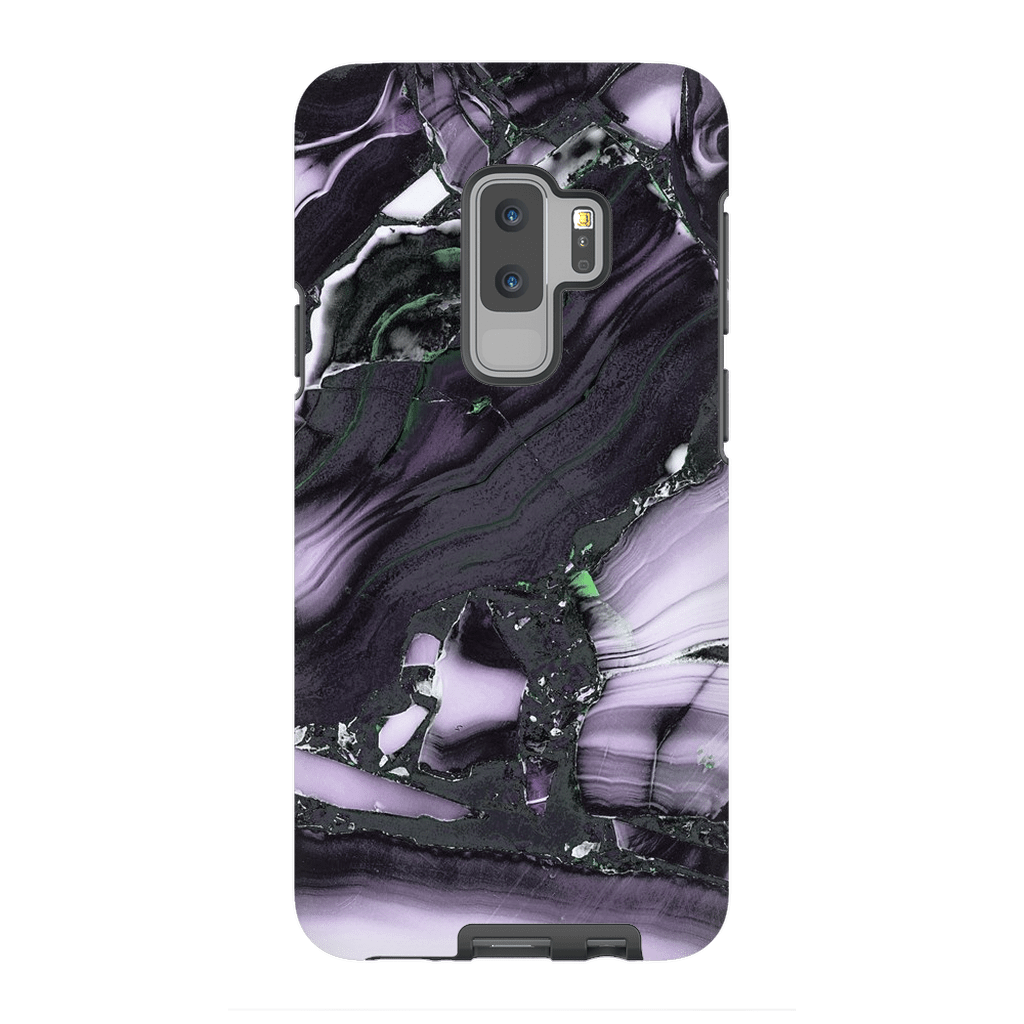 Black Purple Marble Galaxy S9 and S9 Plus Tough case - Purdycase