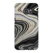 Black Abstract Gold Galaxy S6 Edge and S6 Edge Plus Tough Case