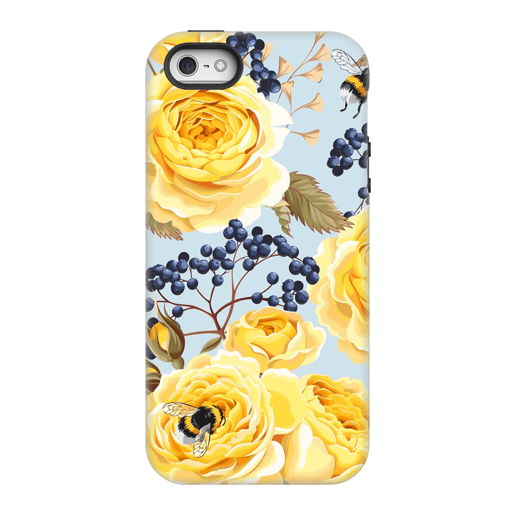 Vintage Yellow Rose iPhone 5/5s/SE Case - Purdycase