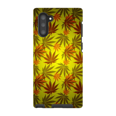 Yellow Cannabis Galaxy Note 10 Series Tough Case