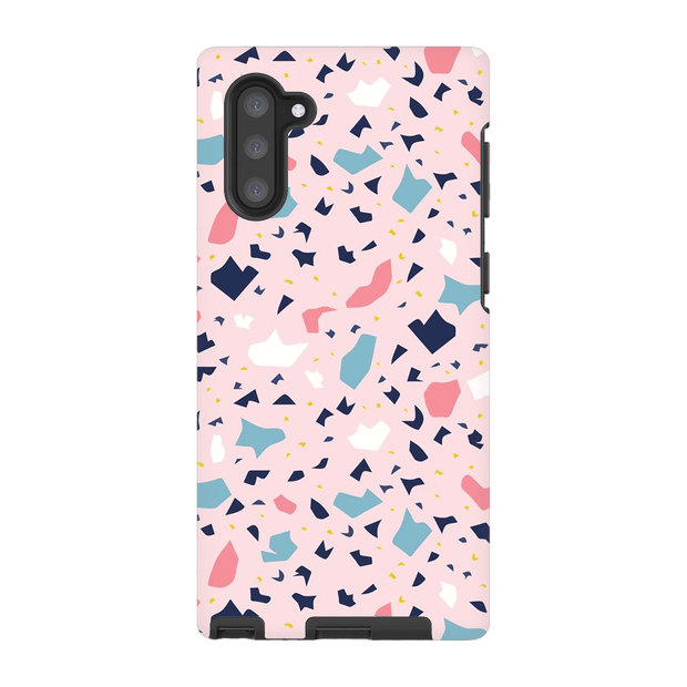 Terrazzo Pink Speckle Galaxy Note 10 and 10 Plus Tough Case