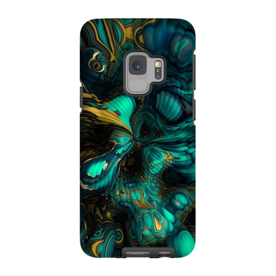 Turquoise Abstract Bubble Galaxy S6-S9 Plus Series