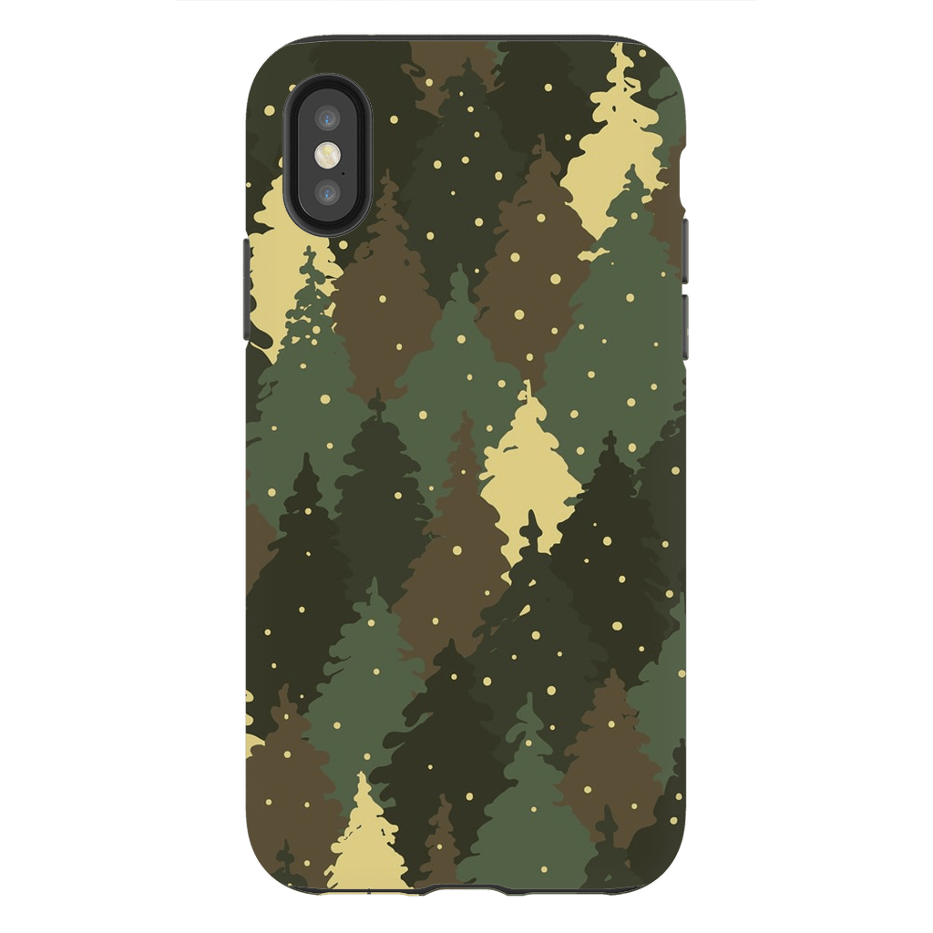 Forest Army Camo iPhone X-XS MaX Tough Case - Purdycase