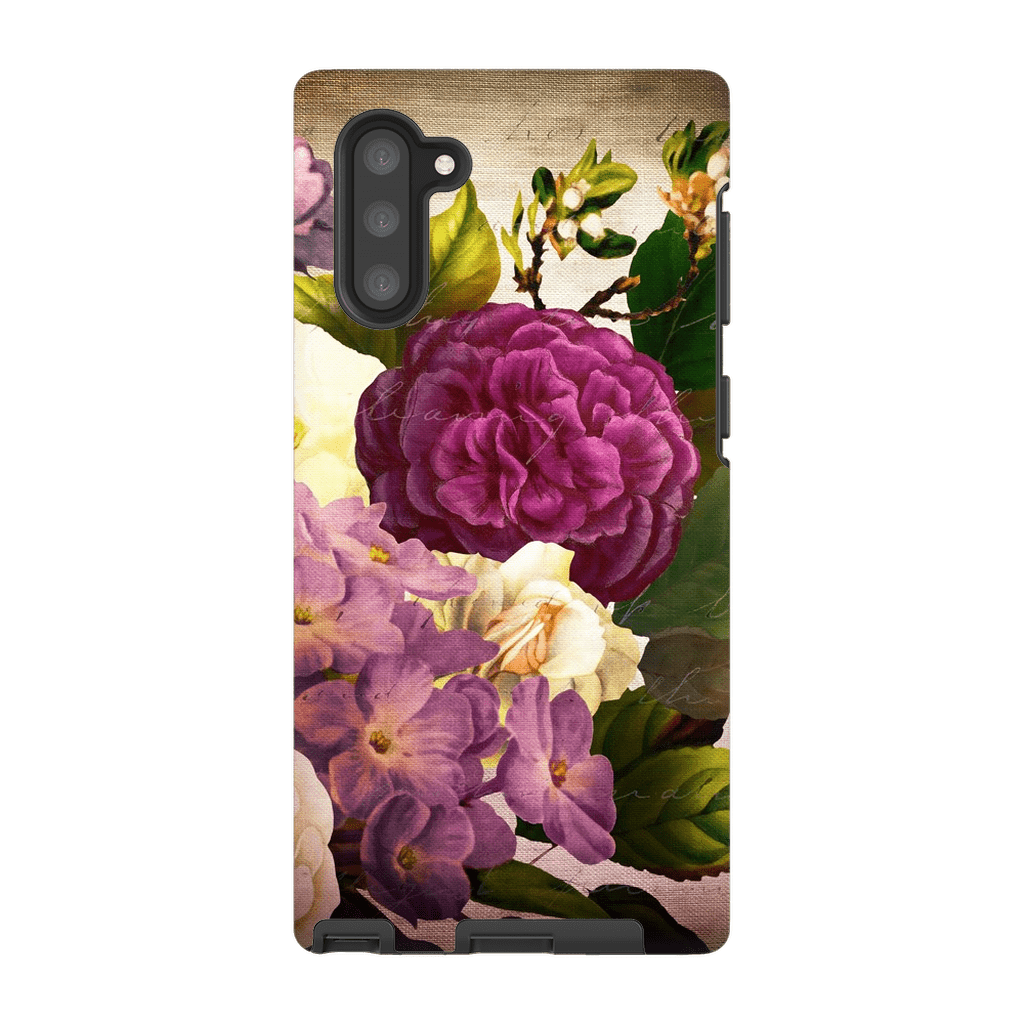 Burgundy Bouquet Galaxy Note 10 and 10 Plus Tough Case - Purdycase
